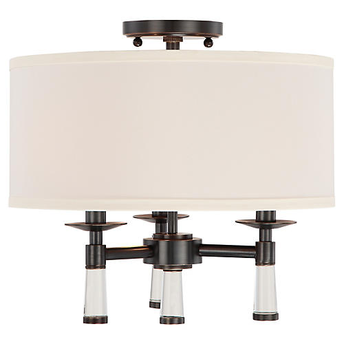 Baxter 3-Light Ceiling Mount, Bronze