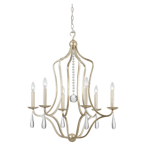 Manning 6-Light Chandelier, Silver