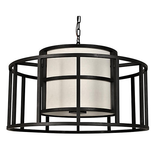 Hulton 5-Light Pendant, Matte Black