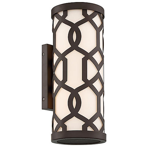 Jennings Outdoor 2-Light Sconce, Dark Bronze