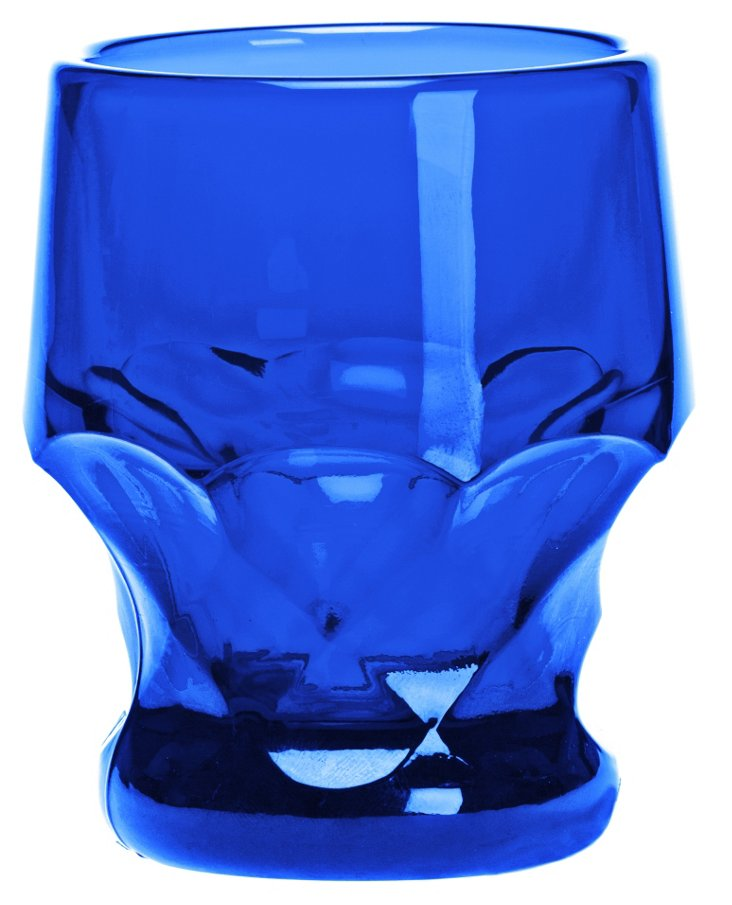 S/4 Chiseled DOF Glasses, Blue