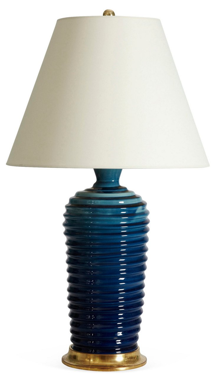 Spiral Lamp, Prussian Blue