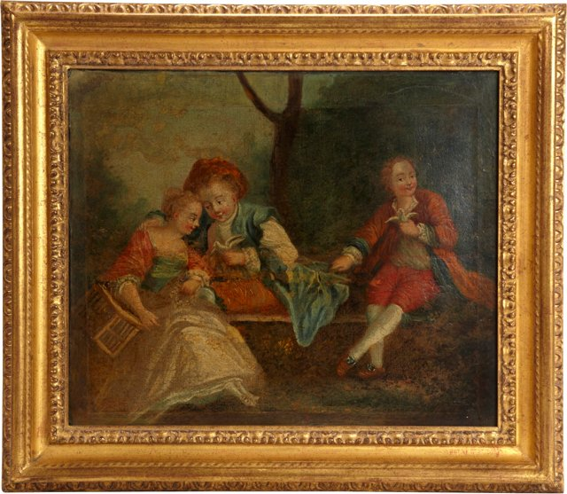 French Oil Painting, Family