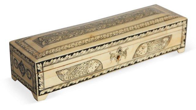 Marquetry Bone Inlay Box I