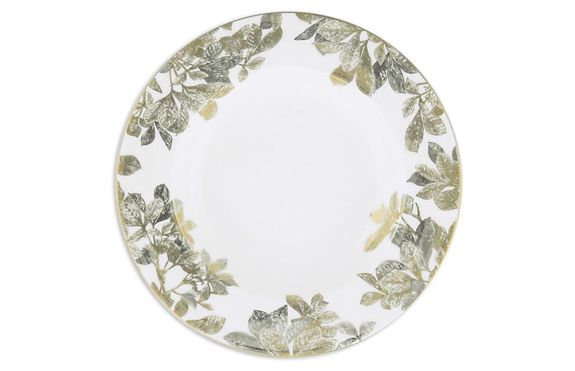 Arbor Gold/Platinum Rimmed Soup Bowl - 9