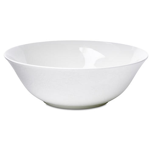 Winter White Serving Bowl