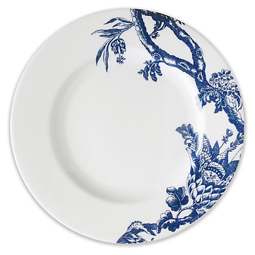 Arcadia Salad Plate, White/Blue