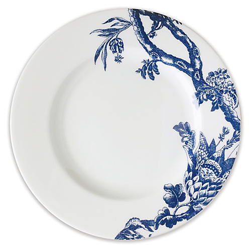 Arcadia Salad Plate, White/Blue