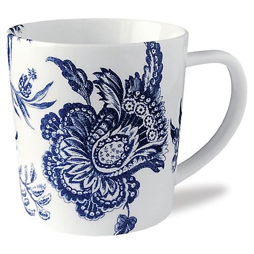 Arcadia Mug, White/Blue