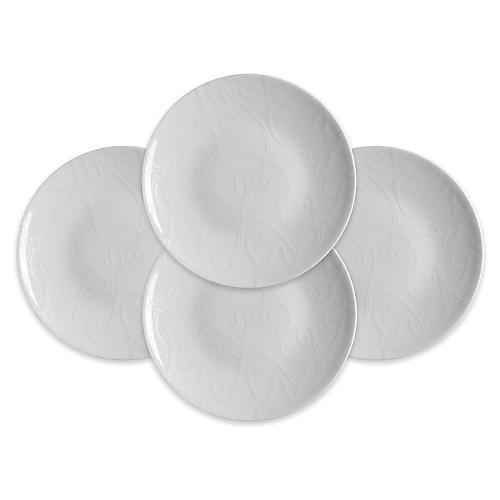 S/4 Starfish Plates, White