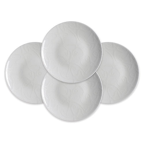 S/4 Starfish Plates, White