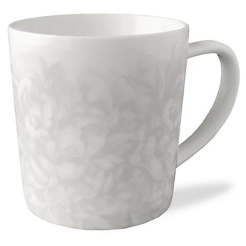 Peony Mist Mug, Gray