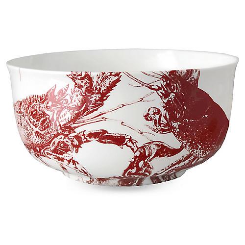 Lobster Serving Bowl, Red