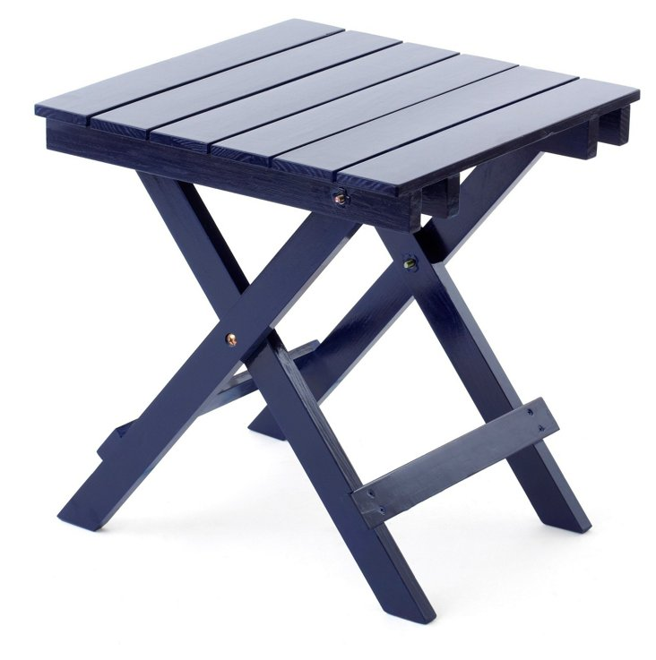 Outdoor Side Table, Navy