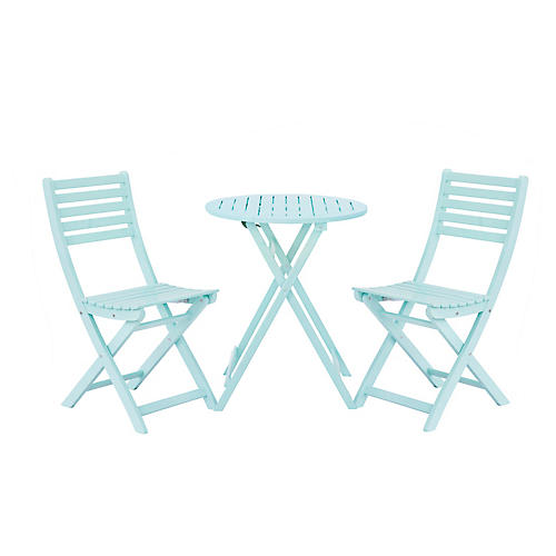 Amber 3-Pc Round Bistro Set, Mint