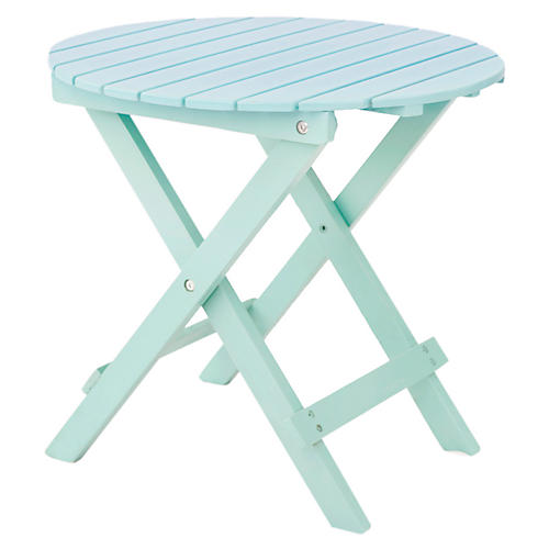 Adirondack Round Side Table, Mint