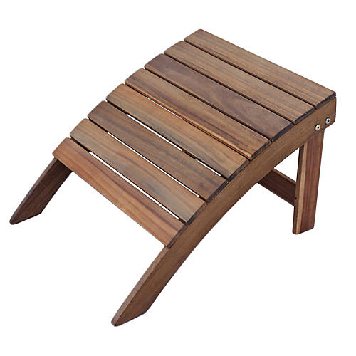 Adirondack Outdoor Ottoman, Natural