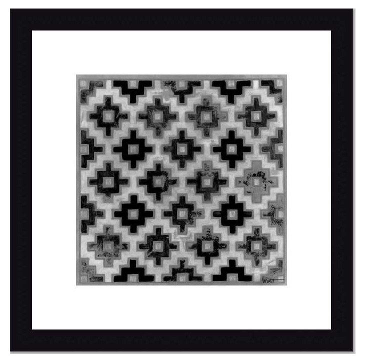 Mudcloth Black & White II