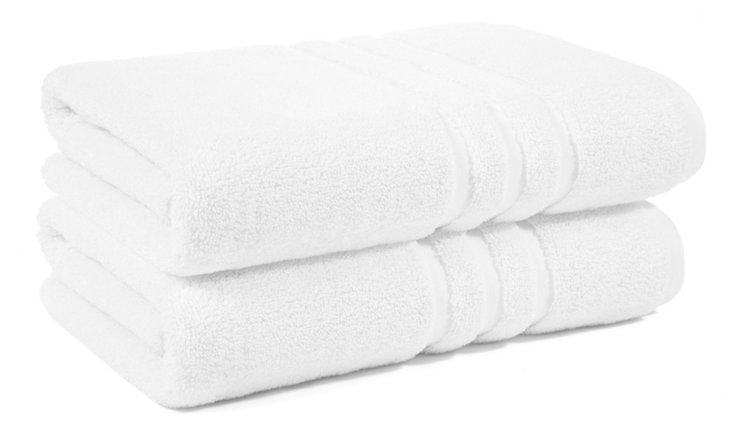 S/2 Irvington Bath Towels, White