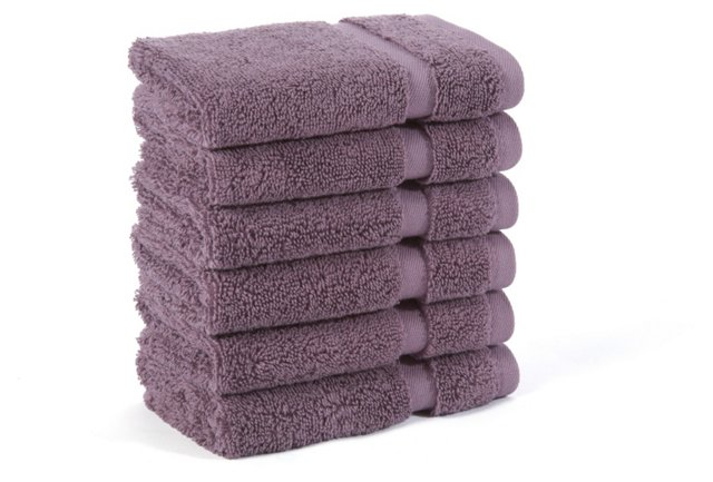 S/6 Irvington Washcloths, Grape