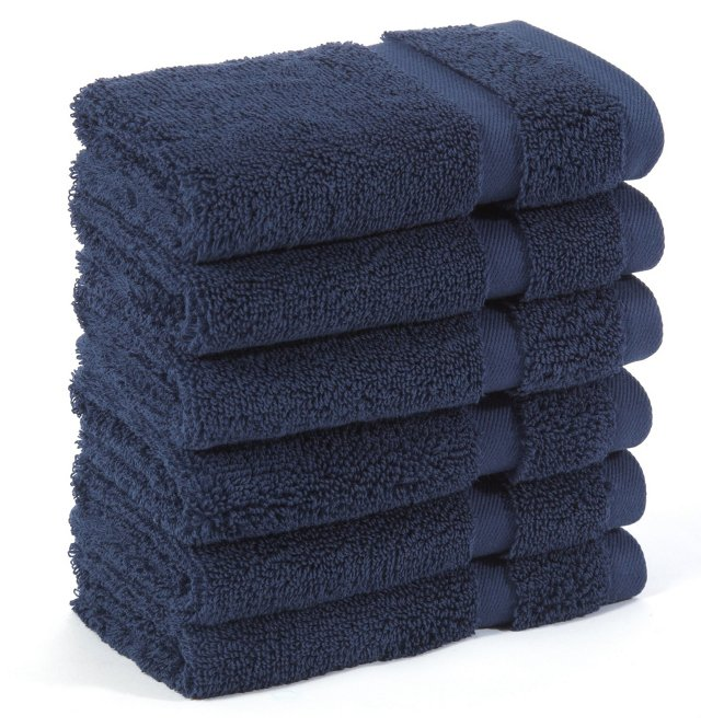 S/6 Irvington Washcloths, Navy