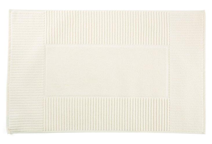 Oxford Rib Bath Mat, Linen