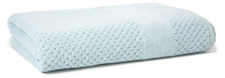 Honeycomb Bath Towel, Duck Egg