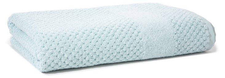 Honeycomb Bath Towel, Duck Egg