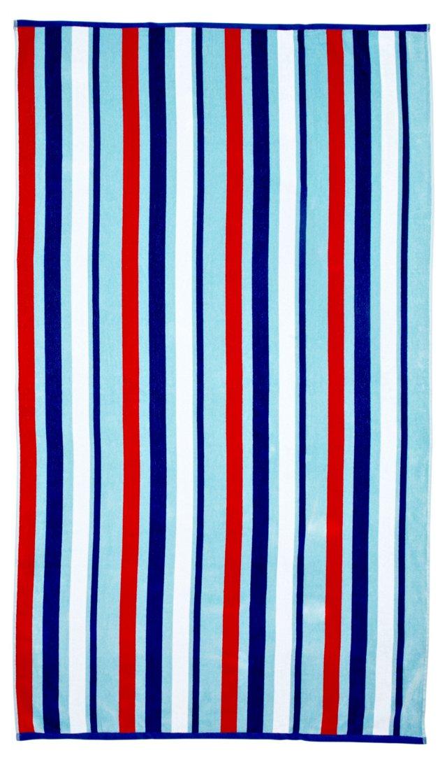 Manhattan Stripe Beach Towel