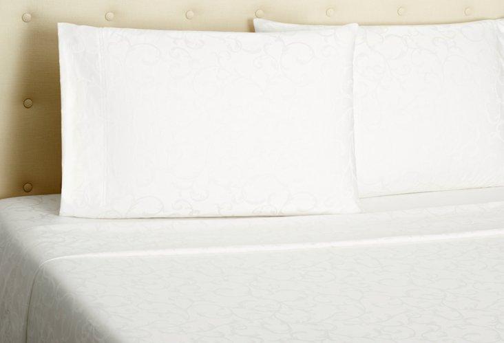 Jacquard Sheet Set, White