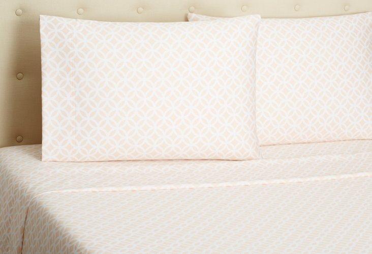 Meridan Sheet Set, Teaberry/White