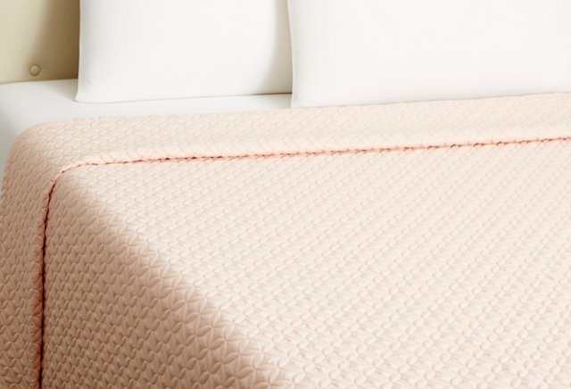 Meridian Quilted Coverlet, Teaberry