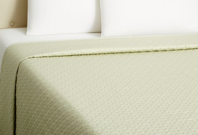 Meridian Quilted Coverlet, Sage
