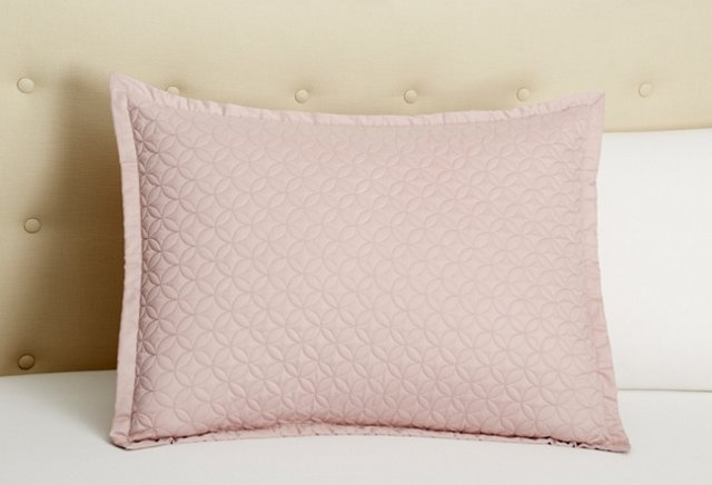 Meridian Quilted Sham, Thistle