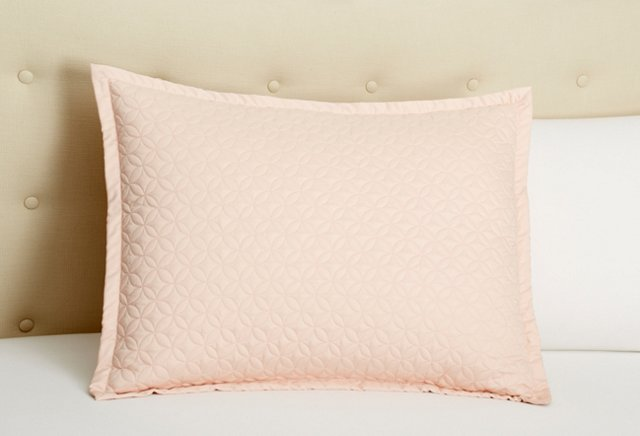 Meridian Quilted Sham, Teaberry