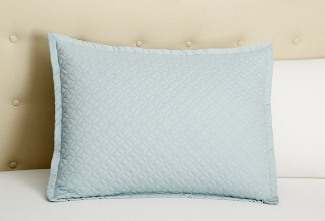 Meridian Quilted Sham, Sea Glass