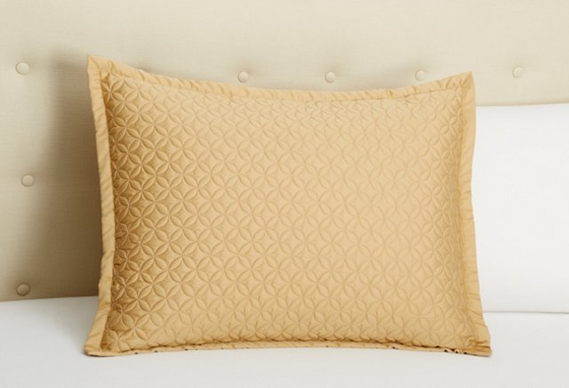 Meridian Quilted Sham, Honey