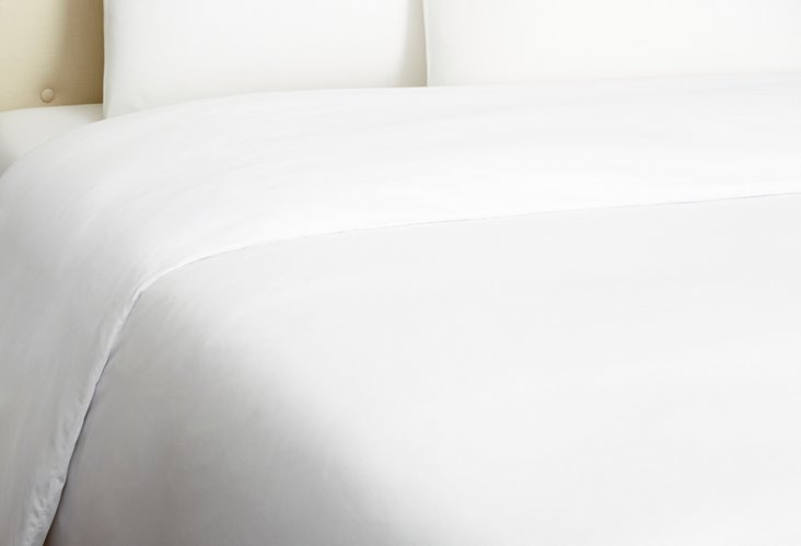 Sateen Duvet, White