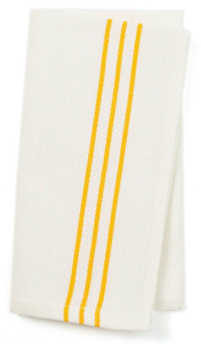 S/4 Napkins, Yellow Stripes