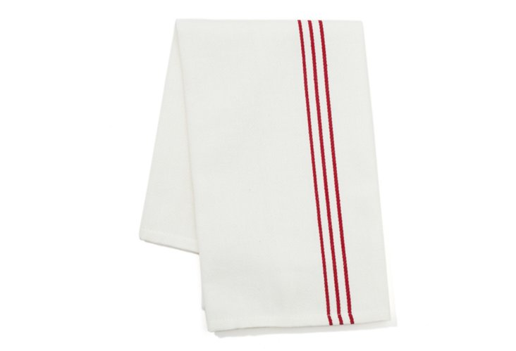 Set of 2 Woven Kitchen Towels, Red
