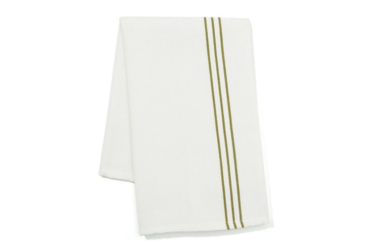 S/2 Woven Kitchen Towels, Green