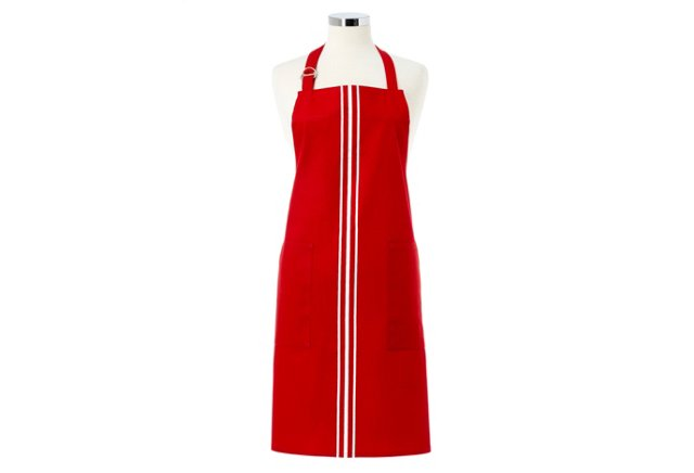 Cotton Apron, Red