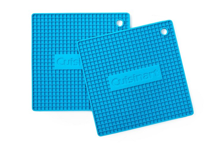 S/2 Silicone Trivets, Blue