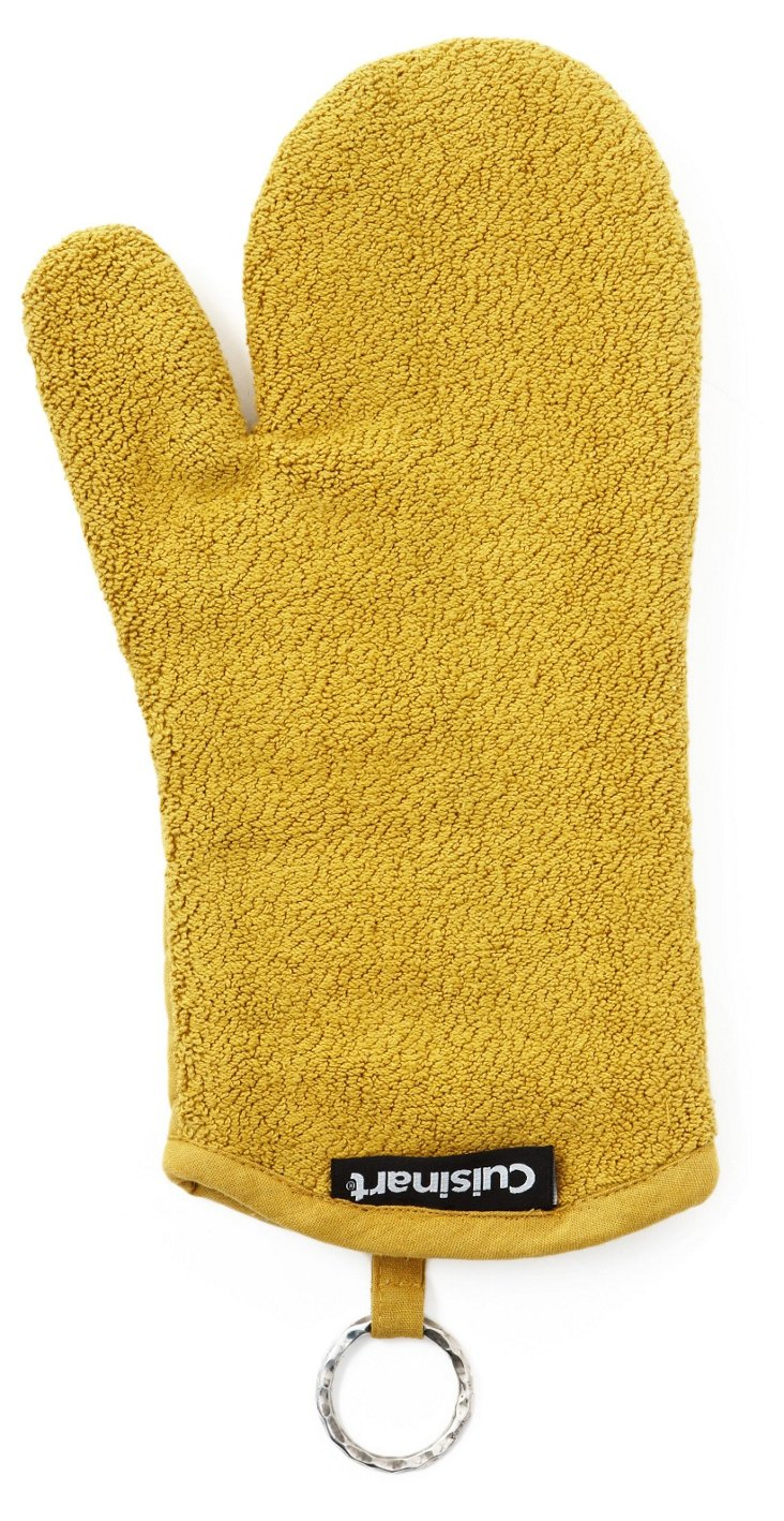 S/2 Terry Oven Mitts, Chartreuse