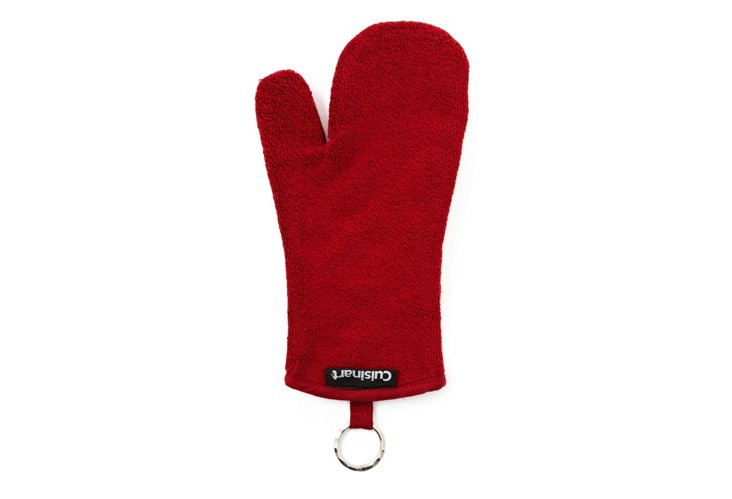 S/2 Terry Oven Mitts, Red