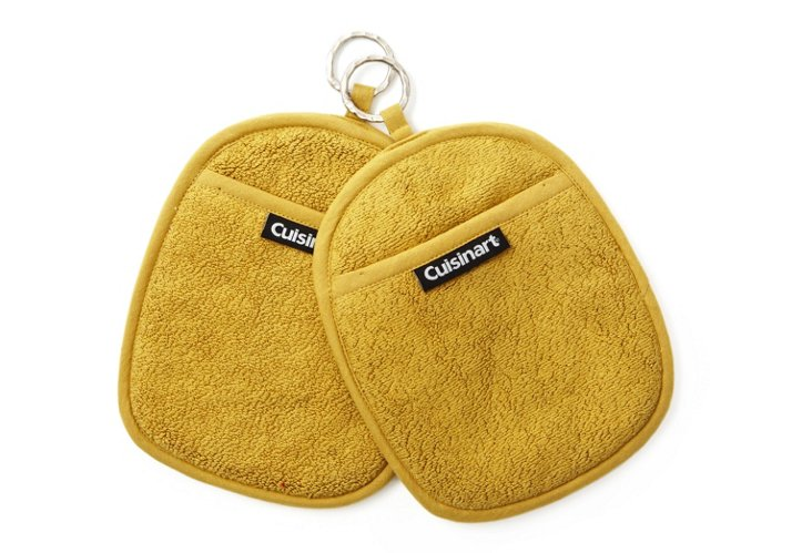 S/2 Terry Pot Holders, Chartreuse