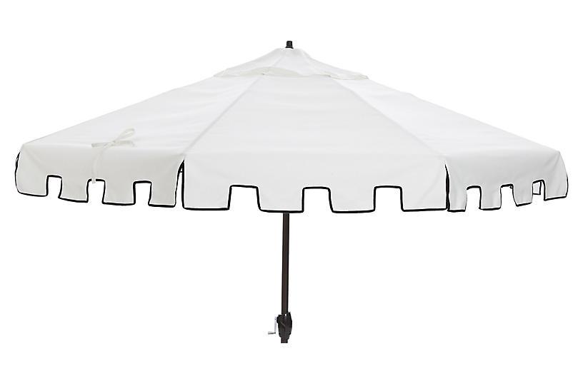 Nina Patio Umbrella, White