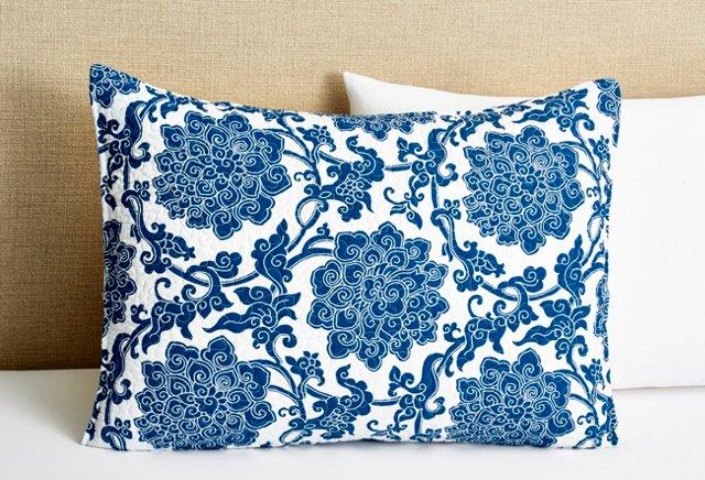 Deborah Standard Sham, Blue
