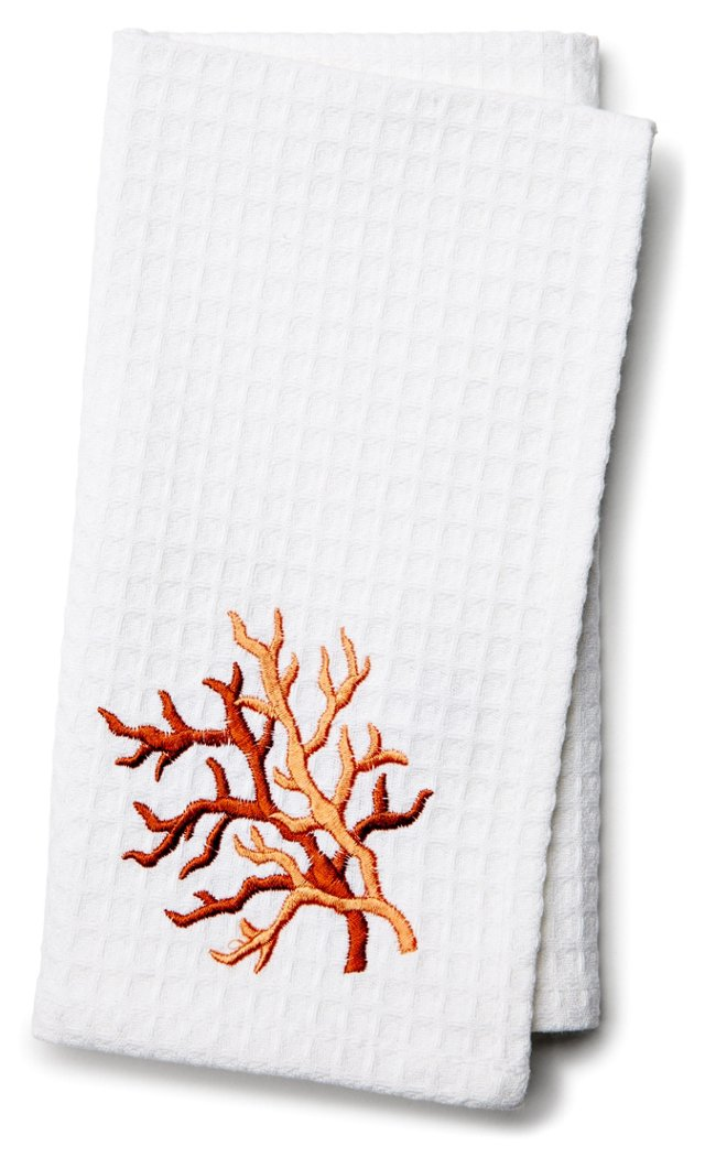 S/4 Waffle Weave Napkins, Coral