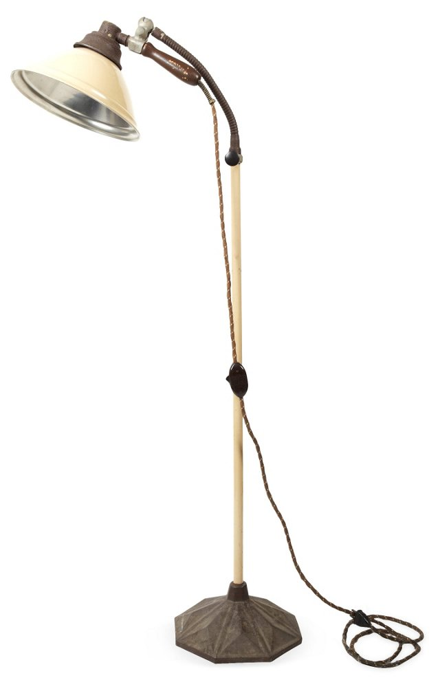 Vintage Burdick Industrial Floor Lamp